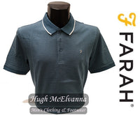 Farah DONALD Polo Shirt ( 2 Colour Options Available ) - Hugh McElvanna Menswear