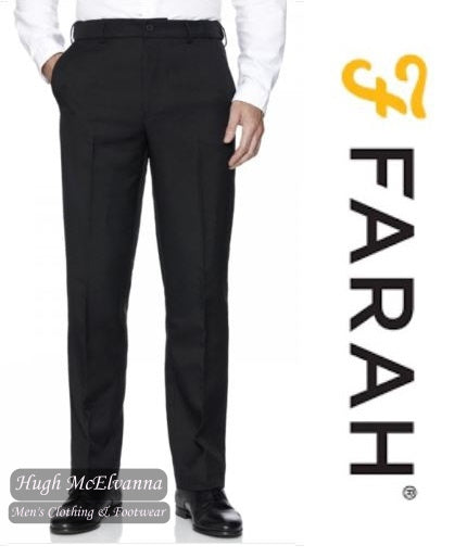 Black Stretch Flexi Waist Trouser by Farah FABS7090
