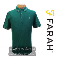 Farah Green POWER HIDES Honeycomb Modern Fit Polo Style: FAKF9031/385