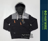 Boy's Burg Lined Hoodie by Haywire Style: FURLONG - 2 Colour Options Available - Hugh McElvanna Menswear