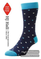 Men's Bamboo Spot - Luxury Men's Sock Style: HJ6519 - 3 Colour Options Available - Hugh McElvanna Menswear