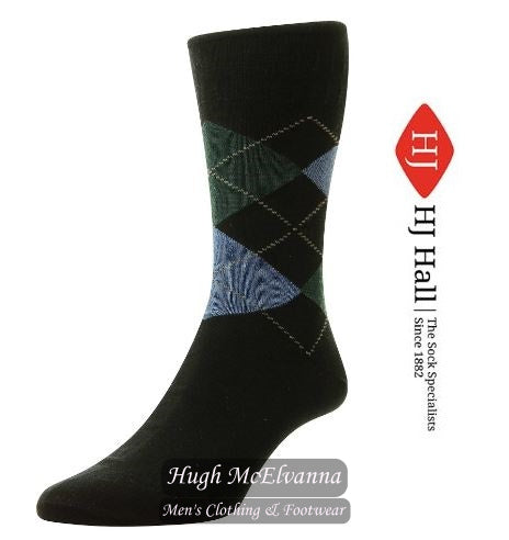 Softop Cotton Argyle Patterned Sock by HJ Hall Style HJ89 ( 4 Colours Options )