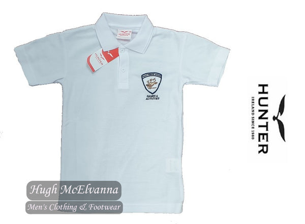 Foley White Polo Shirt by Hunter Style: 1342