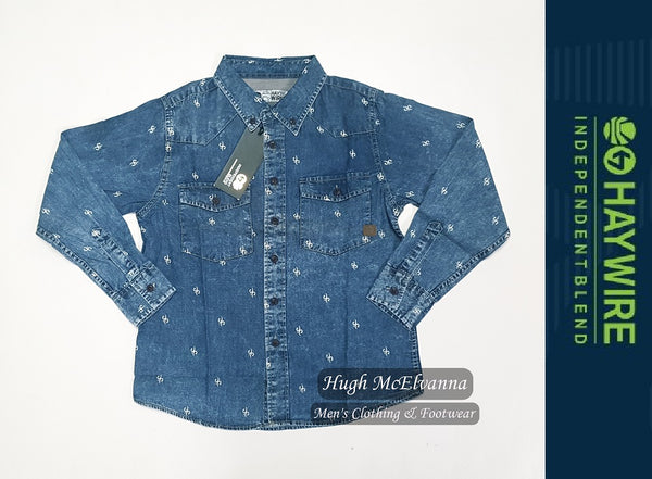 Boy's Print Denim Shirt by Haywire Style: LIBREA - 2 Colour Options Available - Hugh McElvanna Menswear