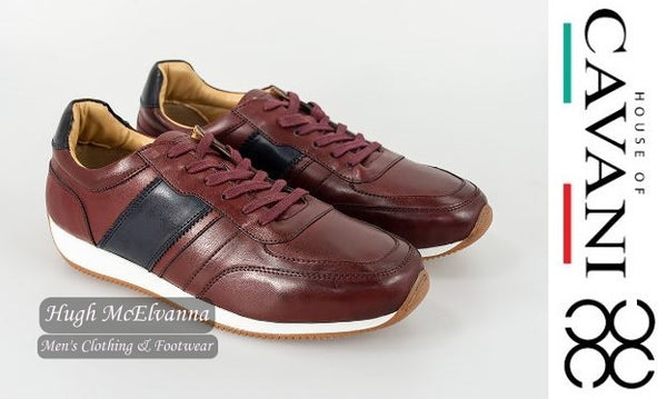 'FRASER' Burgundy Trainer Shoe By House Of Cavani