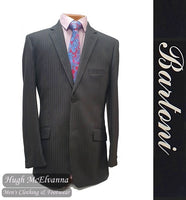 'HUDSON' Charcoal Grey Stripe 2Pc Suit by Bartoni Style: 4863