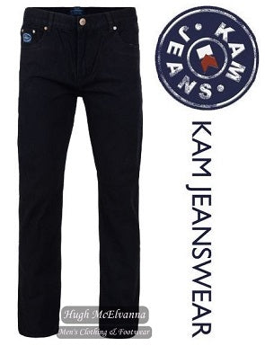 KAM Jeanswear FORGE REGULAR FIT Black Jean - Hugh McElvanna Menswear