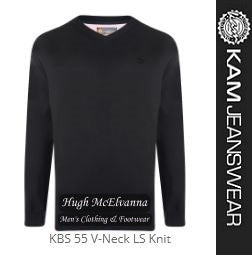100% Cotton V-Neck LS Pullover by Kam Jeanwear Style:KBS 55 -