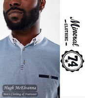 Blue Marl Fashion Polo Shirt by Mineral Style: KOPER SS