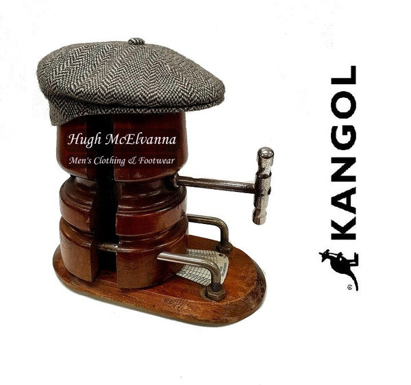 Man's Green Tweed Cap by Kangol - Hugh McElvanna Menswear