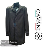 Grey Fashion Slim Fit 3/4 Length Overcoat by House Of Cavani Style: NEW KARA