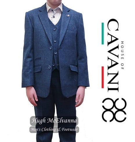 'CARNEGI' Boys 3Pc Fashion Suit by House Of Cavani