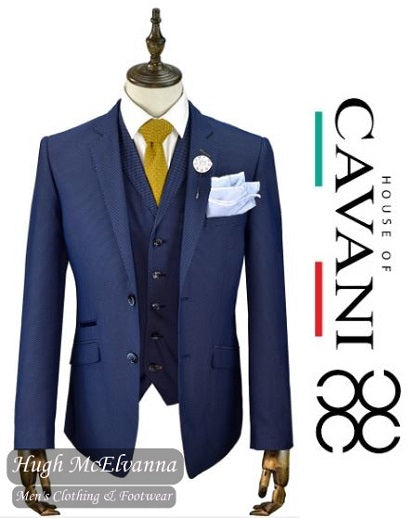 EDSON Fashion 3Pc. Suit by CAVANI - Hugh McElvanna Menswear