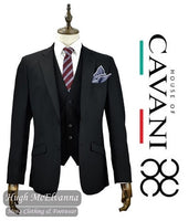 FELIX Black 3Pc. Suit by CAVANI - Hugh McElvanna Menswear
