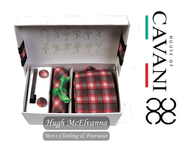Men's Tie Set by House Of Cavani® Style: ST601 RED - Hugh McElvanna Menswear