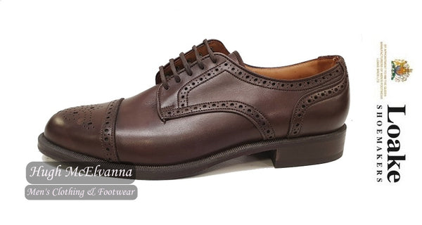 'KINROSS' Brown Laced All Leather Shoe by Loake