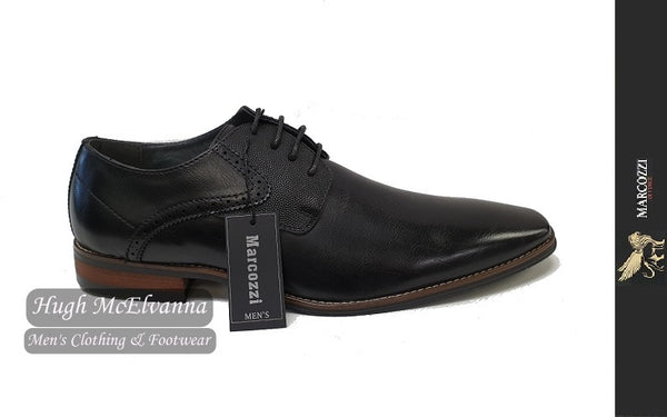 Black Laced Fashion Shoe By Marcozzi Style: PRAGUE - Hugh McElvanna Menswear