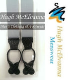 Men's Leather End Formal Brace - Hugh McElvanna Menswear