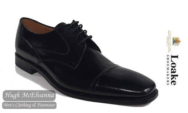 Loake Black Leather Laced Brogue Style: 250B