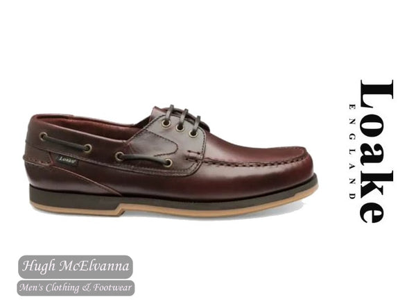 Loake Laced Burgundy Deck Shoe Style: 521