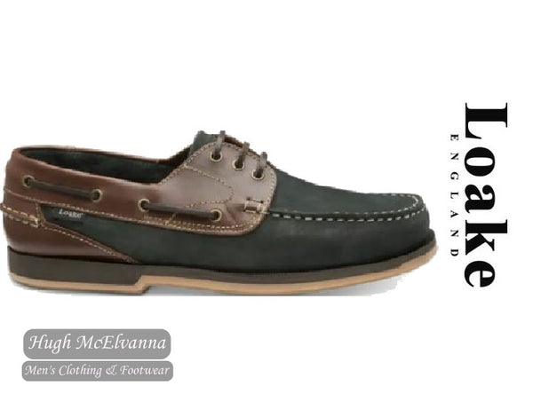 Loake Laced Navy Deck Shoe Style: 521