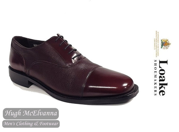 Loake Burgundy Laced Brogue Style: BIBURY