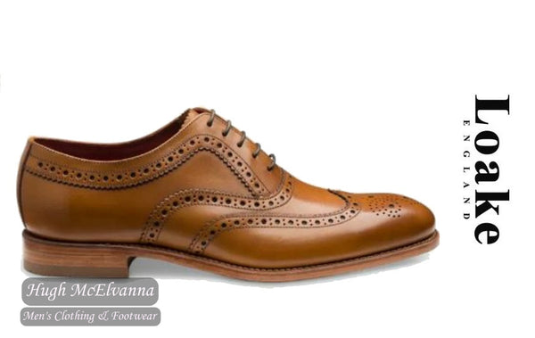 Loake Tan Laced Brogue Style: Buckingham