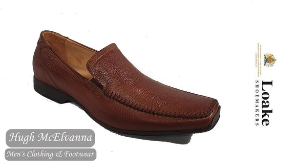 Loake Tan Slip On Leather Loafer Shoe With Rubber Sole Style: COLORADO
