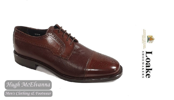 Loake Brown Deer Skin Leather Laced Shoe Style: STOW