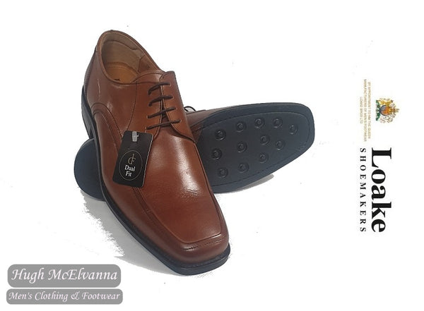 Loake Tan Laced Dual Fit Shoe Style: SUSSEX