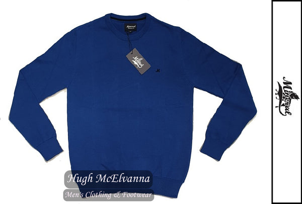 'ARIANA' Cobalt Cotton Crew Neck Pullover by Mineral Style: ML351082