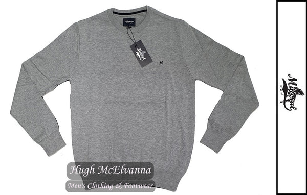 'ARIANA' Grey Marl Cotton Crew Neck Pullover by Mineral Style: ML351082