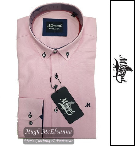 'LOLLAND' Pink Cotton Rich Oxford Shirt by Mineral Style: ML251114
