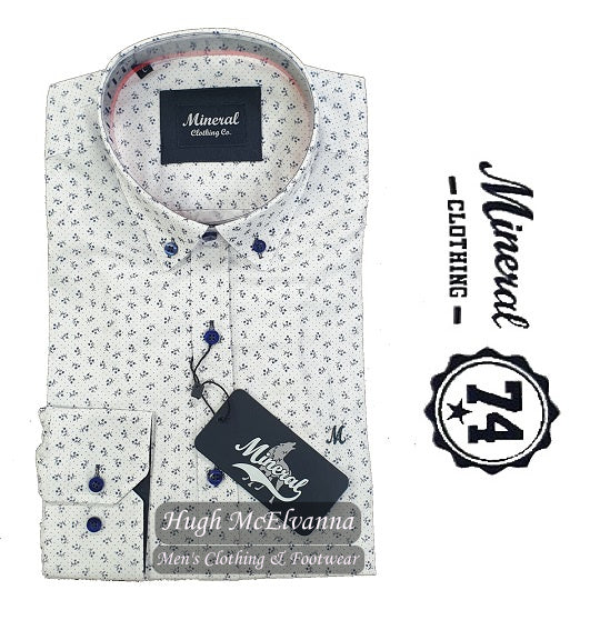 'BERIO' White Fashion Fit Shirt by Mineral