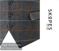 Doyle Classic Check Waistcoat by Skopes Style: MM10034