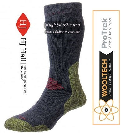 Navy ProTrek Mountain Hiking Socks by HJ Hall Style: HJ702 - Hugh McElvanna Menswear