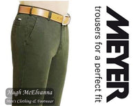Green 'NEW YORK' Organic Cotton Trousers By Meyer Style: 5563/27
