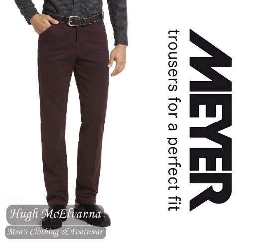 Meyer Burgundy Chicago Stretch Trouser Style: 5568/57