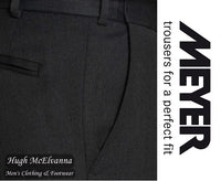 Meyer Charcoal Grey Dress Trousers With Stretch Waist Style: Oslo 303/08 - Hugh McElvanna Menswear