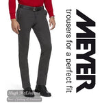 Meyer Grey OSLO Travel Trouser With Stretch Waist Style: 5574/19 - Hugh McElvanna Menswear