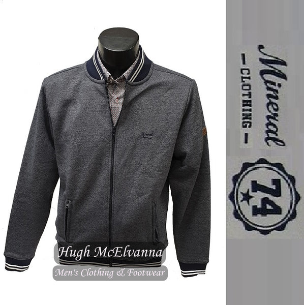 Navy Zip Track Jacket by Mineral Style: DINMONT