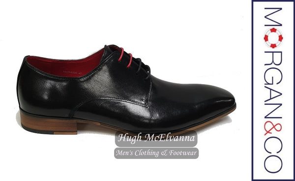Black Laced Shoe by Morgan & Co. Style MGN0530
