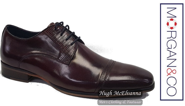 Men's Wine Laced Shoe by Morgan & Co® Style MGN0634 - Hugh McElvanna Menswear