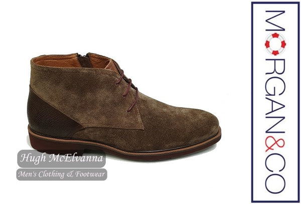 Zip Khaki Suede Chukka Boot by Morgan & Co. Style MGN0624