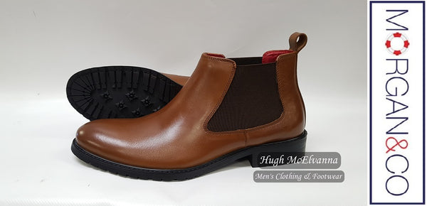 Gusset Boot by Morgan & Co. Style: MGN0366 - 2 Colour Options Availabe - Hugh McElvanna Menswear
