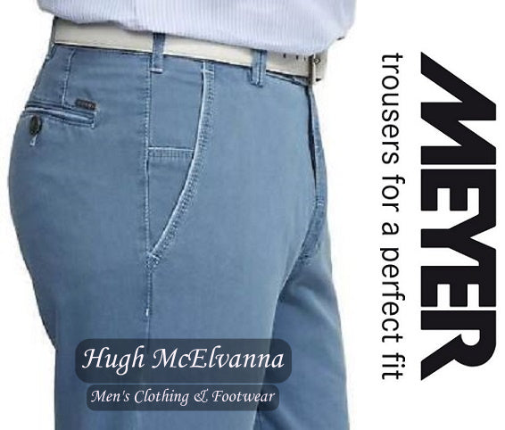 Meyer Blue NEW YORK Trouser Style: 5001/17 - Hugh McElvanna Menswear