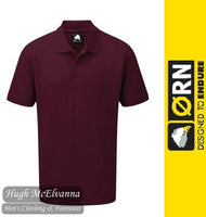 Burgundy Work Polo Shirt by ORN Style: 1150