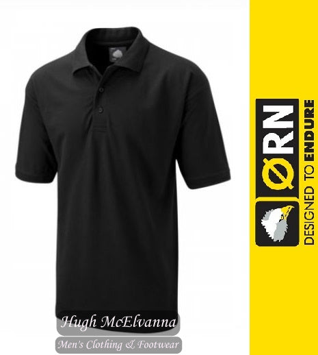 Black Work Polo Shirt by ORN Style: 1150 - Hugh McElvanna Menswear