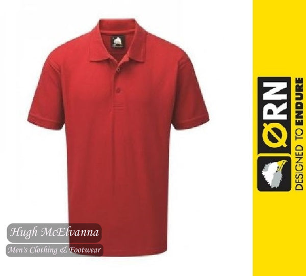 Red Work Polo Shirt by ORN Style: 1150