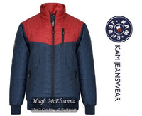Navy King Size Jacket With Contrast Detail By Kam Style: KV89